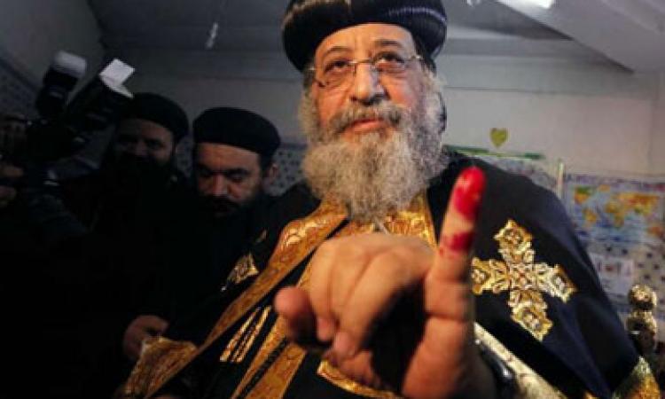 «البابا تواضروس» يدلي بصوته في الانتخابات الرئاسية بمنطقة الوايلي