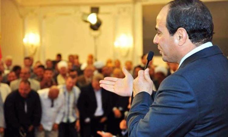 السيسي: محافظات الصعيد سيكون لها نصيب كبير من الاستثمار والتطوير للنهوض بأوضاعها