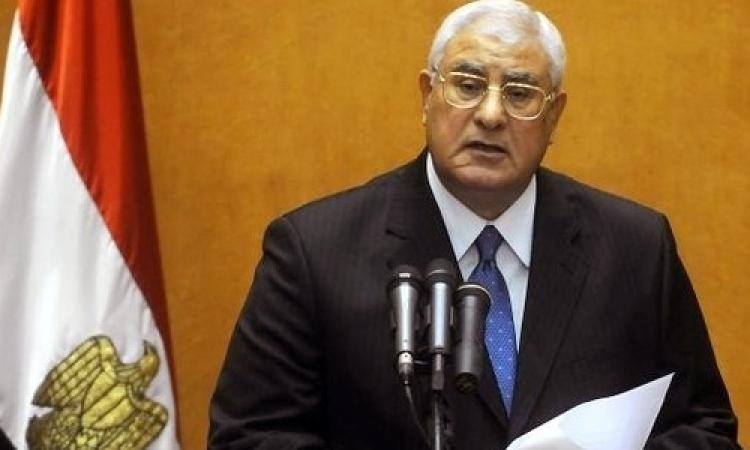 منصور يصدر قرارًا جمهوريًا بإعادة تخصيص مساحات مملوكة للدولة لاستخدامها في مشروعات خدمية