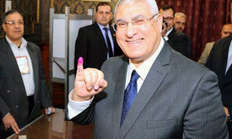 بالفيديو.. «عدلي منصور» يدلي بصوته في الانتخابات الرئاسية