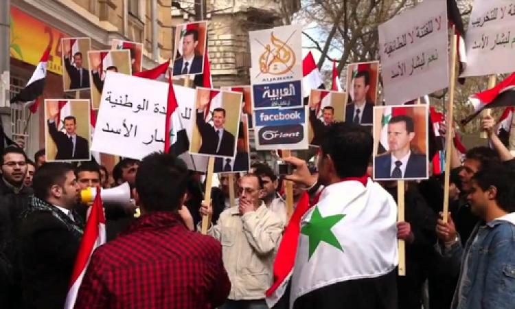 بالفيديو.. وصلة رقص شعبي في الشارع لفتاة سورية دعمًا لـ«الأسد» في الرئاسة