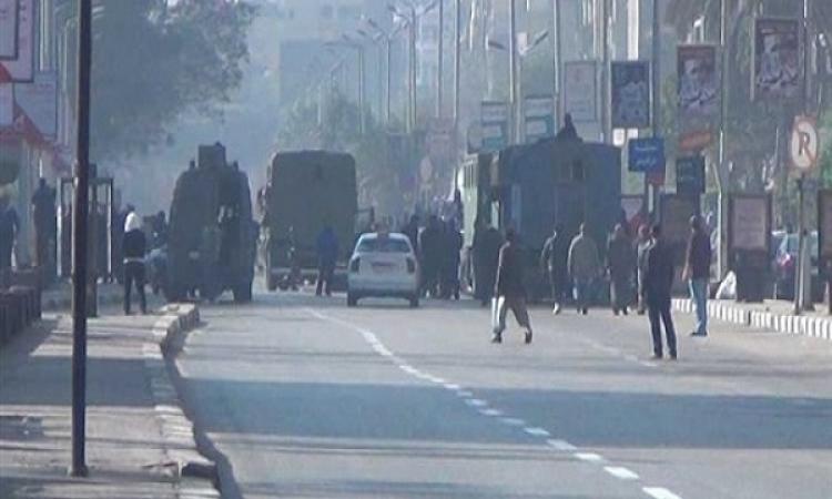 قوات الأمن تفرق مسيرة لتنظيم الإخوان الإرهابي بعد اشتباكها مع الأهالي بالطالبية