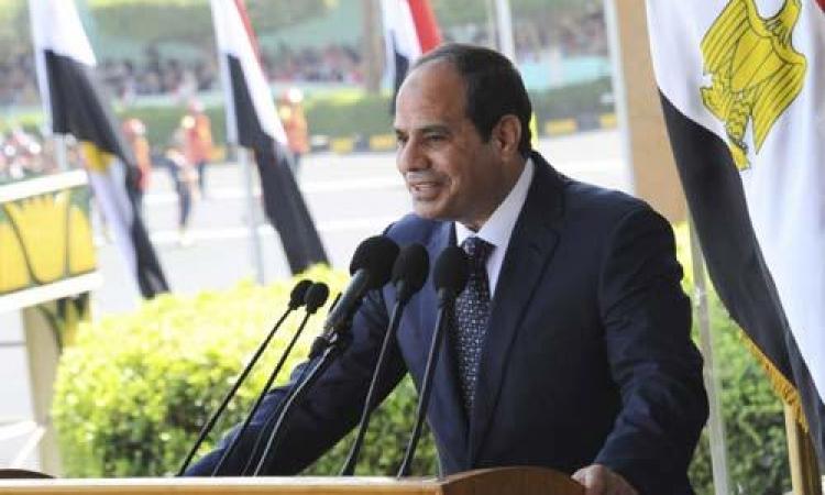 السيسى يشارك فى احتفالية وزارة الداخلية بعيد الشرطة الـ 67