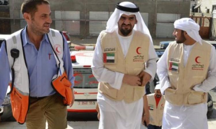 بالصور.. الجسمي يقود قافلة المساعدات الإنسانية الإماراتية إلى غزة