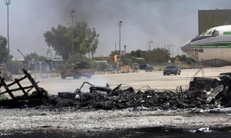انفجاران فى محيط مطار معيتيقة شرق طرابلس