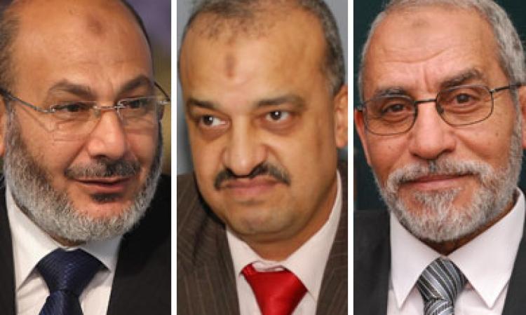 حبس محمد بديع والكتاتني وحجازي والبلتاجي والعريان ثلاث سنوات لإهانة  المحكمة