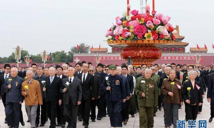 بالصور .. إحياء ذكرى الشهداء في الصين