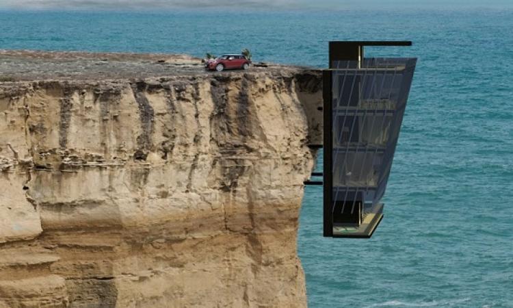 لعطلة غير عادية .. منزل على حافة جرف فوق المحيط .. استجمام أم رعب ؟!!