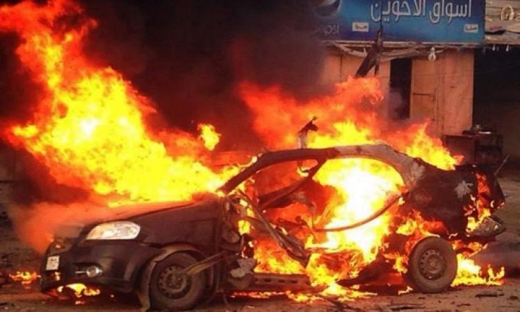 انفجار سيارة شرطة بحي العرب ببورسعيد دون إصابات