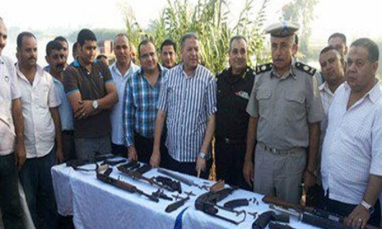 أمن البحيرة يضبط 4 ورش لتصنيع الأسلحة على جزيرة أبو الخاوي
