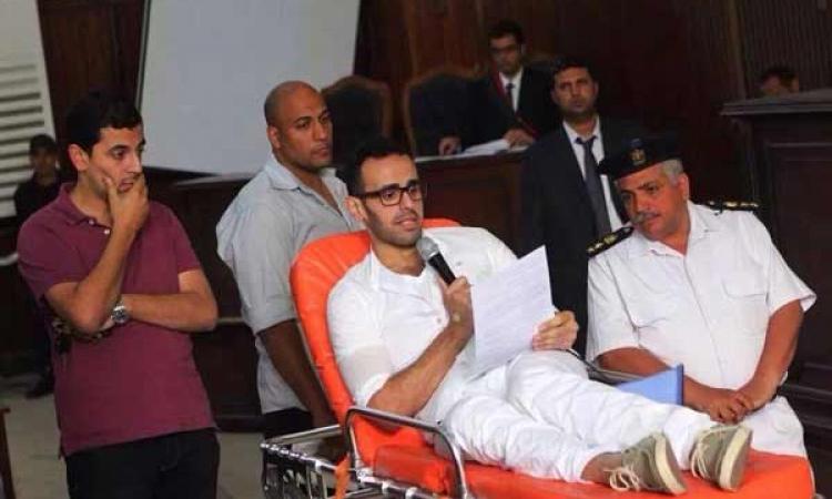 """دفاع محمد صلاح سلطان بـ«غرفة عمليات رابعة"""": أنا برىء من دمه .. والقاضي: «وإحنا كمان»"""