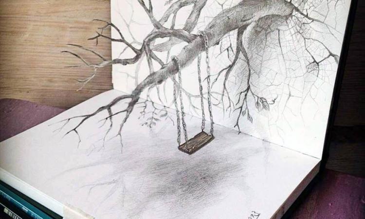 بالصور.. رسومات كأنها تقفز من الورق.. إبداع بالقلم الرصاص 3D