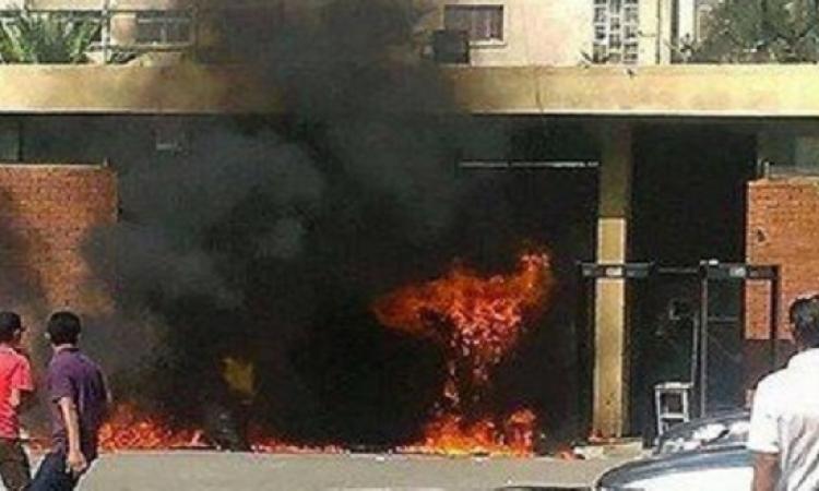 """اعتداء الطلاب على أمن """" فالكون """" في جامعة الإسكندرية"""