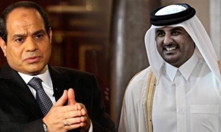 أمير قطر يؤكد رغبته فى أستقرار مصر
