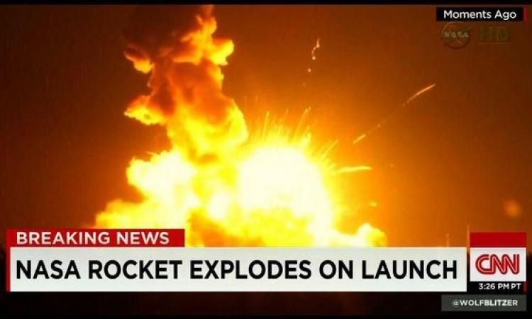 بالفيديو .. انفجار صاروخ تابع لوكالة ناسا بولاية فيرجينيا الأمريكية