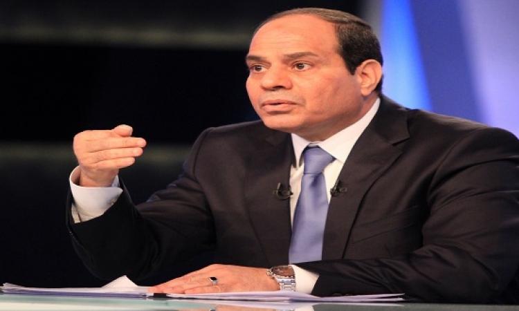 السيسى يؤكد إجراء الانتخابات البرلمانية فى مارس المقبل