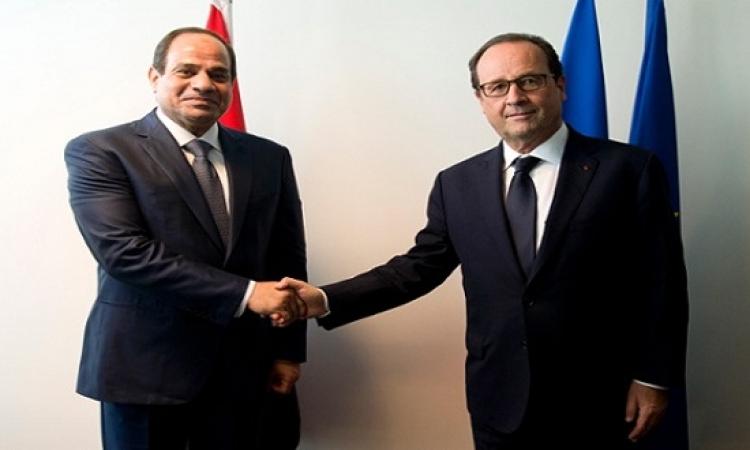 السيسي يوقع عقدًا مع فرنسا لتوسيع شبكة الغاز الطبيعي