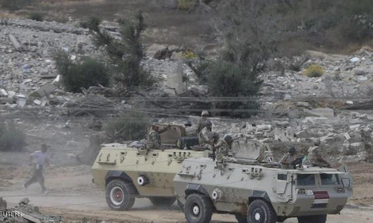القوات المسلحة تفجر سيارة مفخخة بنصف طن متفجرات بشمال سيناء