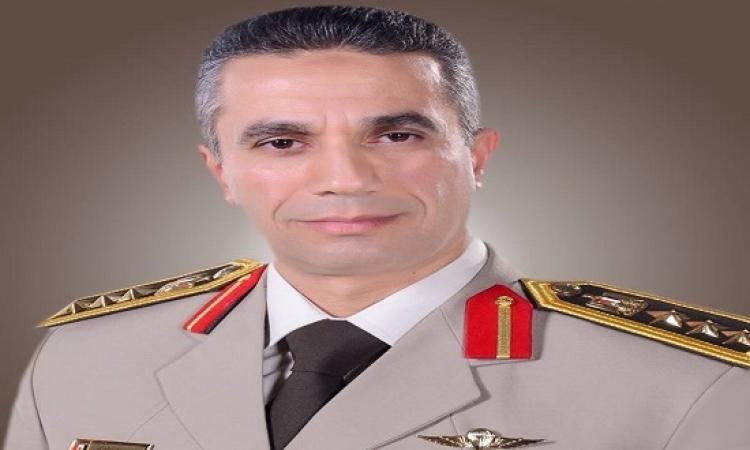 المتحدث العسكرى : مقتل 10 إرهابيين وضبط 54 آخرين وتدمير 94 عشة خلال يومين