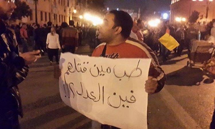 شباب الاخوان ينضمون لتظاهرات عبدالمنعم رياض
