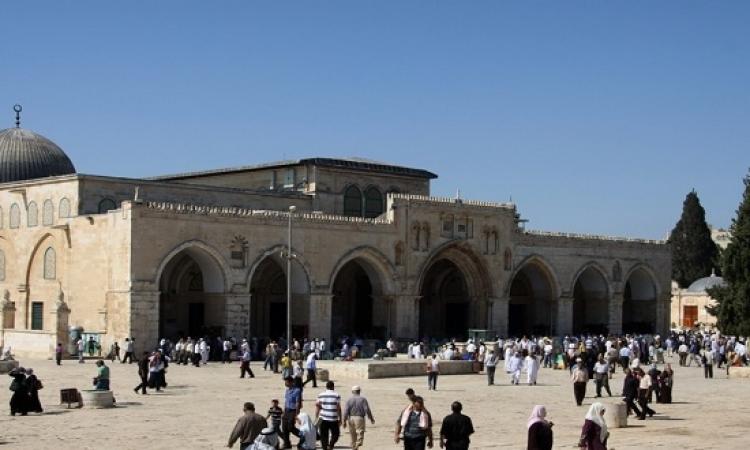 جماعات من المتطرفين اليهود يقتحموا المسجد الأقصى تحت حماية شرطة الإحتلال
