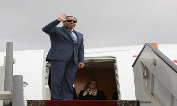 السيسى يصل أثيوبيا للمشاركة فى قمة الاتحاد الأفريقى