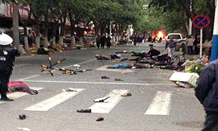 مقتل 15 شخصا بهجوم إرهابي شمال غرب الصين