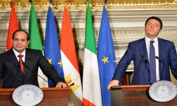 مصر وإيطاليا توقعان 9 اتفاقيات باستثمارات تصل إلى نصف مليار دولار