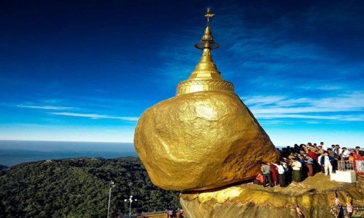 بالصور.. الصخرة الذهبية في دولة ميانمار