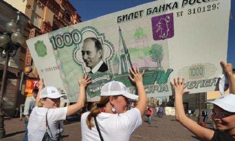 ارتفاع شعبية بوتين رغم تراجع الروبل الروسى