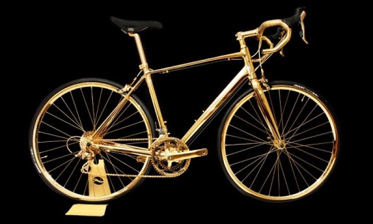 دراجة ذهبية عيار 24 .. ثمنها ربع مليون استرلينى بس !!