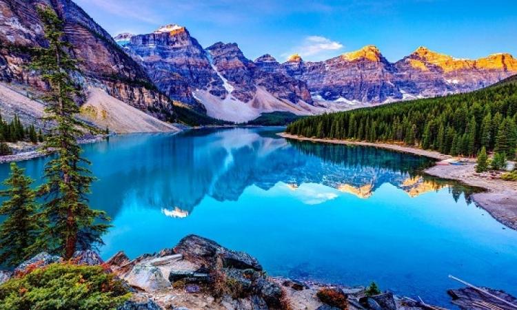 بالصور ..  بحيرة الركام فى كندا