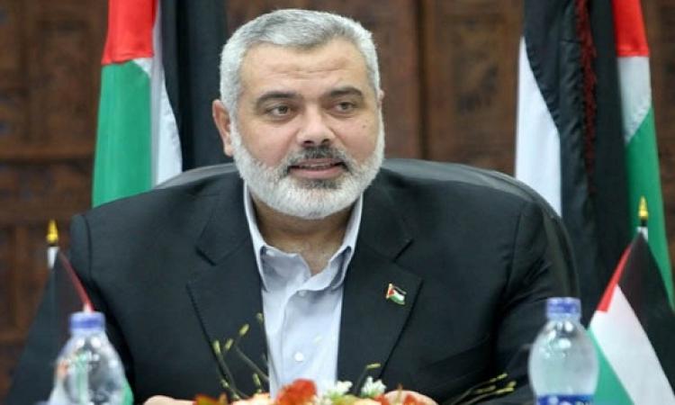 اسماعيل هنية يدعو مصر إلزام إسرائيل بوقف إطلاق النار