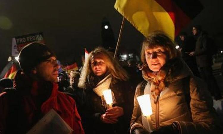 15 ألف شخص يشاركون فى مظاهرة مناهضة للإسلام فى شرق ألمانيا