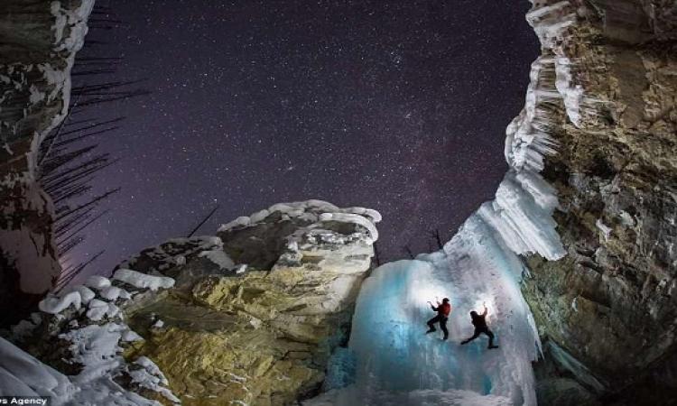 بالصور .. أروع الشلالات المجمدة حول العالم !!