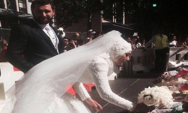 مسلمة تضع «بوكيه» حفل زفافها بين زهور النصب التذكارى لضحايا سيدنى