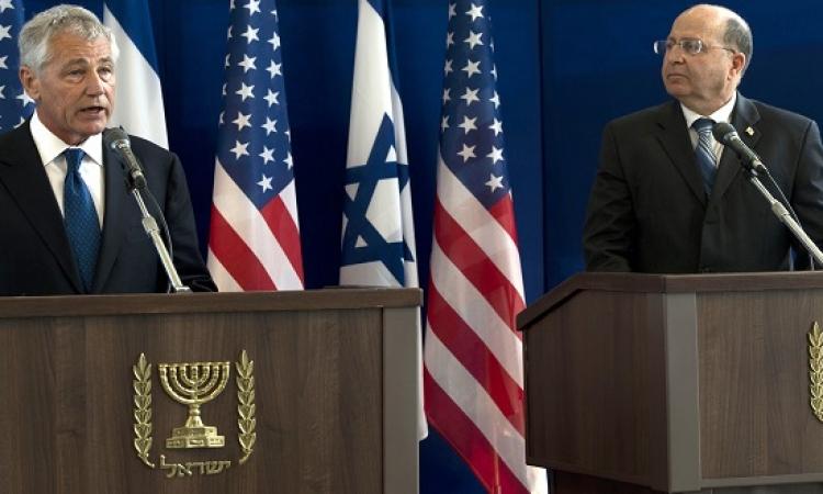 هيجل يبحث مع وزير الدفاع الإسرائيلي تطورات العمليات ضد داعش