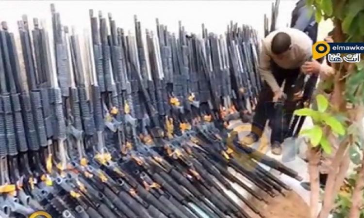 بالفيديو .. امن مطروح يضبط 706 بندقية خرطوش