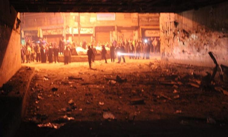انفجار قنبلة بجوار محطة تموين فى الكيلو 21 الإسكندرية
