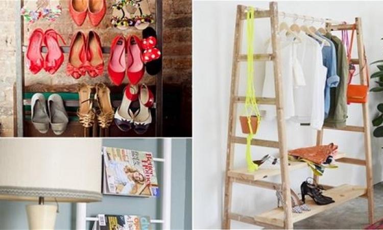 بالصور.. السلالم القديمة يمكن أن تصبح أغراض جديدة من ضمن ديكورك