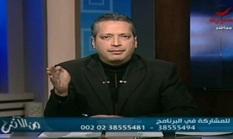 بالفيديو .. تامر أمين: حمدين صباحى والست اللى خلعت جوزها وجهان لعملة واحدة