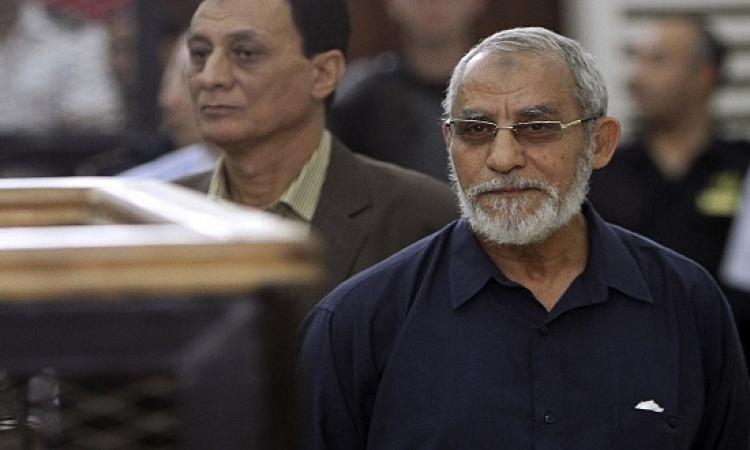 جنايات القاهرة تواصل نظر إعادة محاكمة بديع و13 آخرين فى قضية أحداث مكتب الارشاد