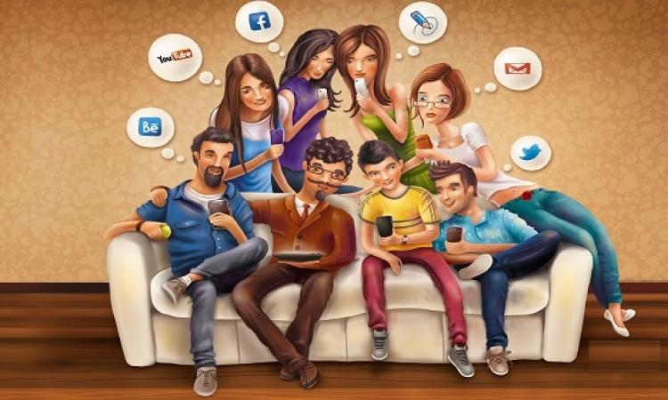 دراسة حديثة: شبكات التواصل تعرض الفرد لضغوط نفسيه مع اسرته