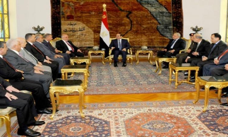 """السيسي يؤكد لـ""""العبادى"""" مساندة العراق فى مكافحة الإرهاب"""