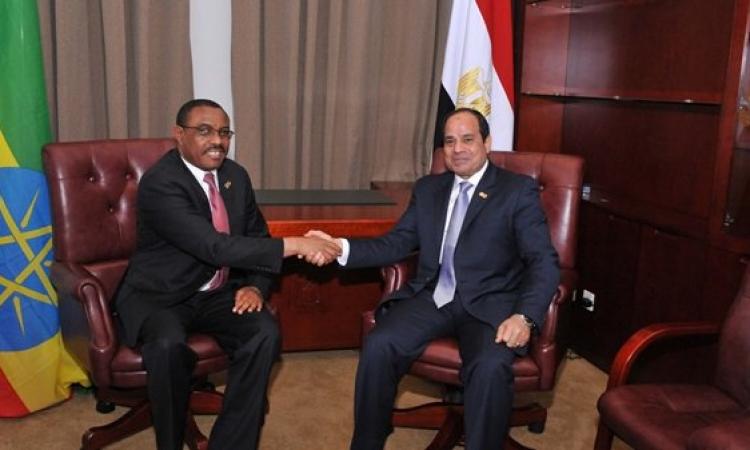 السيسى يستقبل وفد الدبلوماسية الشعبية الإثيوبية ويلقى كلمة امام البرلمان