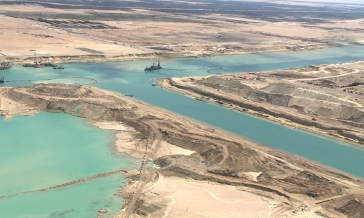 انتهاء أعمال الحفر الجاف بقناة السويس الجديدة 9 أبريل المقبل