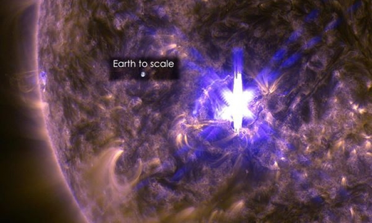 انفجار شمسى قريب من الأرض