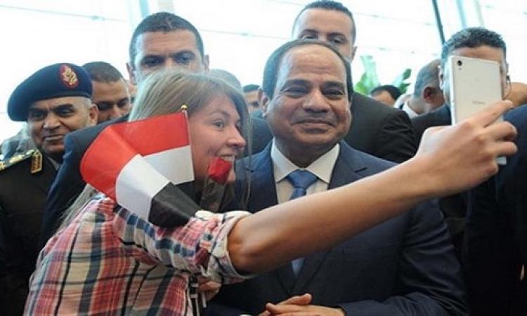 بالصور ..  جنون السيلفى يصل إلى الرئاسة