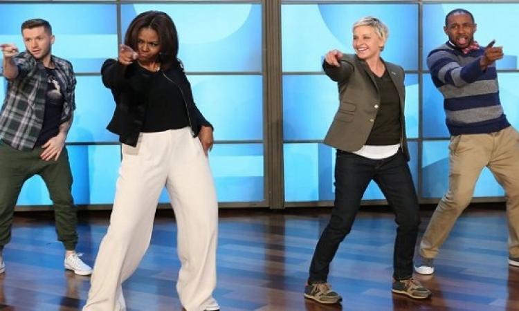 """بالفيديو.. رقصة ميشيل اوباما على انغام """"Uptown Funk"""""""