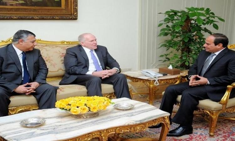 السيسى يلتقى مدير المخابرات الأمريكية لبحث آخر المستجدات الإقليمية والدولية